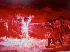 Yan Pei-Ming, Exécution, après Goya, 1998