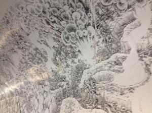Le premier jour de la bataille de la Somme, Joe Sacco, détail de la fresque dans le couloir du métro Montparnasse