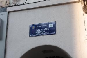 Plaque Place des H+®ros