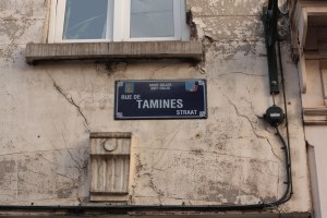 Plaque rue de Tamines
