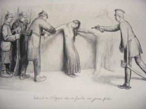 Jean Veber, 1914 : le 8 août ils ont fusillé une jeune fille en Belgique