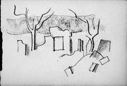 Jean Hugo, ruines à Cantigny