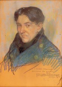 Jean-Gabriel Domergue, Portrait d'André Warnod, 1915.