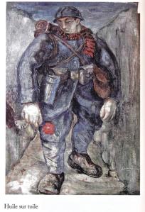 Lucien Jacques, Le Poilu, huile sur toile, 1930.