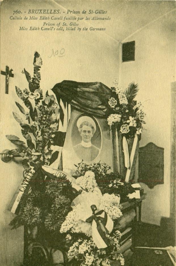 Cellule d'Edith Cavell à la prison de Saint-Gilles