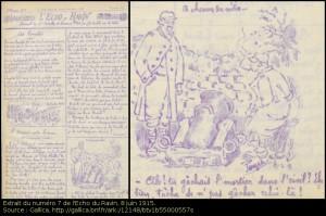 L'écho des ravins, journal de tranchées où dessinait André Paillette