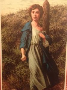 Carte postale dessinée de GabriellePetit devant le poteau d'exécution