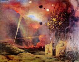 Félix Vallotton, Paysage de ruines et d'incendies (La Marne)
